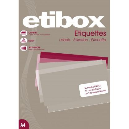 Etiquette 63.5mmx38.1mm planche A4